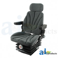 Ford | New Holland T7070 Tractor Seat, F10 Series, Mechanical Suspension / Arm Rest / Head Rest / Gray Cloth