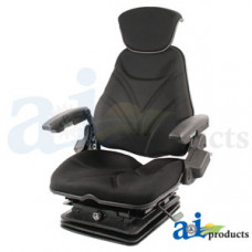 Ford | New Holland T7070 Tractor Seat, F20 Series, Air Suspension / Armrest / Headrest / Black Cloth