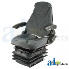 Ford | New Holland T7070 Tractor Seat, F20 Series, Air Suspension / Armrest / Headrest / Gray Cloth