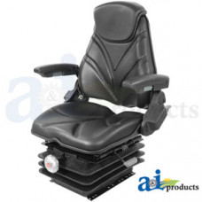 Ford | New Holland T7070 Tractor Seat, F20 Series, Mechanical Suspension / Arm Rest / Head Rest / Black Vinyl