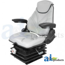 Ford | New Holland T7070 Tractor Seat, F20 Series, Mechanical Suspension / Arm Rest / Head Rest / Gray Vinyl