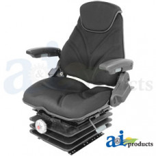 Ford | New Holland T7070 Tractor Seat, F20 Series, Mechanical Suspension / Arm Rest / Head Rest / Black Cloth