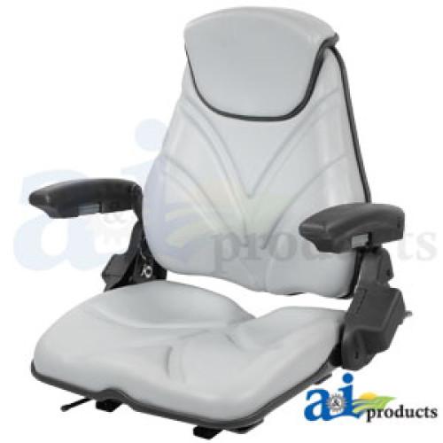 Phenomenal Bad Boy 2300Zt Riding Mower Seat F20 Series Slide Track Armrest Headrest Gray Vinyl Beatyapartments Chair Design Images Beatyapartmentscom