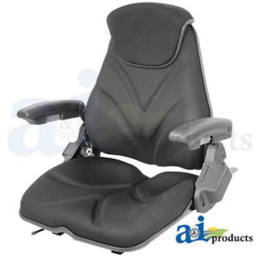 John Deere 6403 Tractor Seat, F20 Series, Slide Track / Arm Rest / Head  Rest / Black Cloth