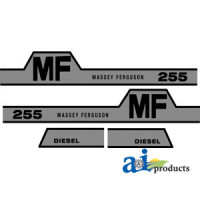 Image of Massey Ferguson 255 Tractor Hood Decal (HUMP MF)