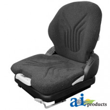 Image of Crown FC4500 Forklift Grammer Seat, CHARCOAL MATRIX CLOTH
