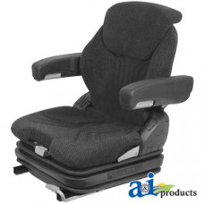 Image of Crown FC4500 Forklift Grammer Seat Assembly, CHARCOAL MATRIX CLOTH
