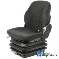 Ford | New Holland T7070 Tractor Seat, Mechanical Suspension; L/ Armrests, BLK/GRY MATRIX CLOTH