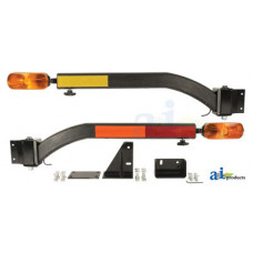 Ford | New Holland 4 CYL Compact Tractor Warning Light Kit, LED, Horizontal & Vertical Mount