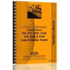 Allis Chalmers 314H Lawn & Garden Tractor Operators Manual