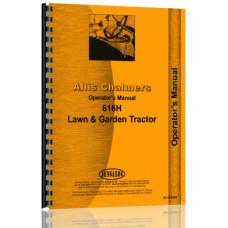 Allis Chalmers 616H Lawn & Garden Tractor Operators Manual