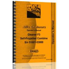 Allis Chalmers F3 Combine Operators Manual (SN# 51001-53000)