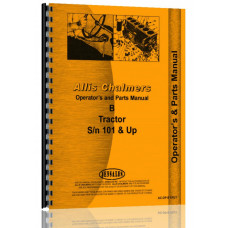 Allis Chalmers B Lawn & Garden Tractor Operators & Parts Manual (SN# 1-46293)