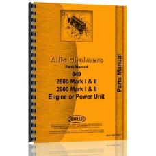 Allis Chalmers 2800 Engine Parts Manual