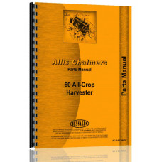 Allis Chalmers 60 Combine Parts Manual (Prior to SN# 0-A-101)