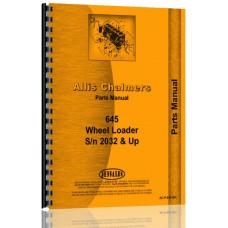 Allis Chalmers 645 Wheel Loader Parts Manual (4WD)