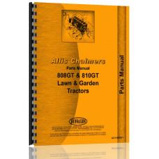 Allis Chalmers 808 Lawn & Garden Tractor Parts Manual