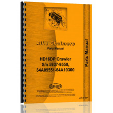 Allis Chalmers HD16 Crawler Parts Manual (SN# 5937-9550, 64A09551-64A10300)