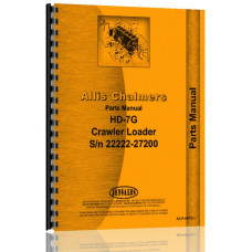 Allis Chalmers HD7G Crawler Parts Manual (SN# 22222-27200) (for Loader)