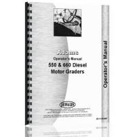 Adams 550 Grader Operators Manual