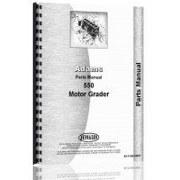 Image of Adams 550 Grader Parts Manual