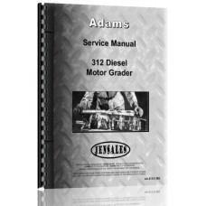 Adams 312 Grader Service Manual