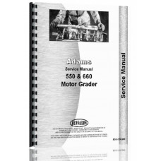 Adams Grader Service Manual (AD-S-550 660)
