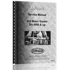 Image of Adams 610 Grader Service Manual