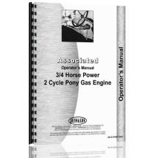 Image of Associated Pony 3/4 HP Engine Operators Manual