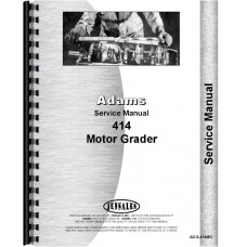 Image of Adams 414 Grader Service Manual