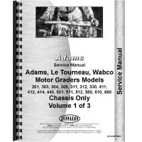 Image of Adams 440 Grader Service Manual (Chassis)