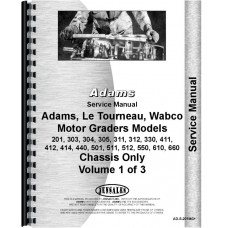 Adams 201 Grader Service Manual (Chassis)