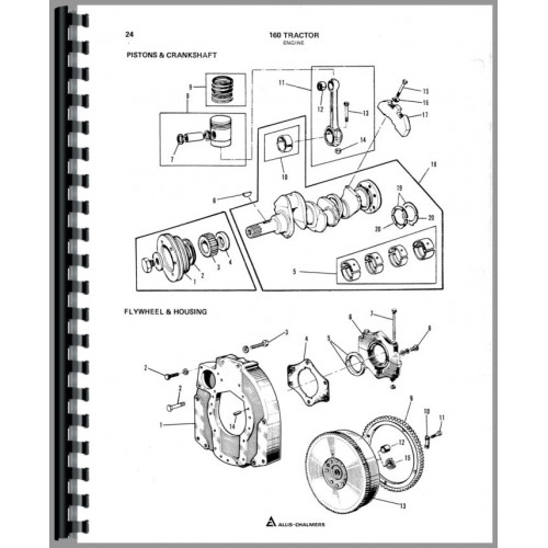 Allis Chalmers 160 Tractor Parts Manual on