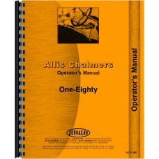 Allis Chalmers 180 Tractor Operators Manual (all SN#s)