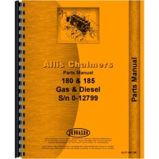Allis Chalmers 180 Tractor Parts Manual (SN# 6644-12985) (Gas & Diesel)