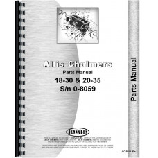 Allis Chalmers 20-35 Tractor Parts Manual (SN# 0-8069) (0-8069)