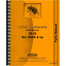 Allis Chalmers 20-35 Tractor Parts Manual (SN# 16436 and Up) (16436+)