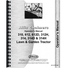 Allis Chalmers 314 Lawn & Garden Tractor Operators Manual