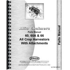 Allis Chalmers 66 Combine Attachements Parts Manual