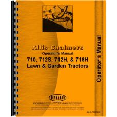 Allis Chalmers 712H Lawn & Garden Tractor Operators Manual