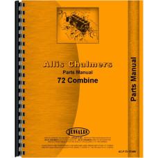 Allis Chalmers 72 Combine Parts Manual