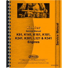 Kohler Lawn & Garden Tractor Single Cylinder Engine Service Manual