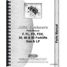 Allis Chalmers FL 40 Forklift Parts Manual