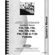 Allis Chalmers F 90 Forklift Operators Manual