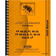 Allis Chalmers FP40-24 Forklift Parts Manual