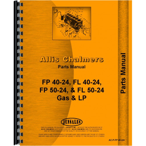Allis Chalmers FP50-24 Forklift Parts Manual