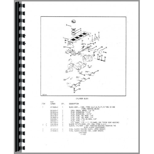 Allis Chalmers FP50-24 Forklift Parts Manual