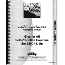 Allis Chalmers A2 Combine Operators Manual (SN# 32001 and Up) (32001+)