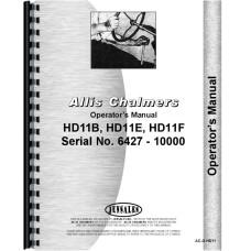 Allis Chalmers HD11F Crawler Operators Manual (SN# 6427-10000)