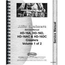 Allis Chalmers HD16D Crawler Service Manual (All SN#) (w/ Standard Transmission)